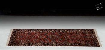 "2'6""x7 American Sarouk Design Rug Runner"