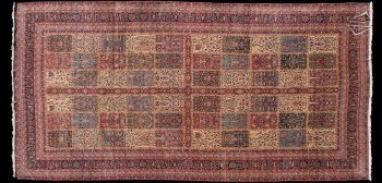 11x22 Antique Kerman Garden Design Rug