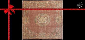 12x12 Aubusson Design Square Rug