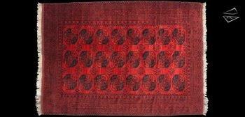 9x13 Ersari Afghan Rug