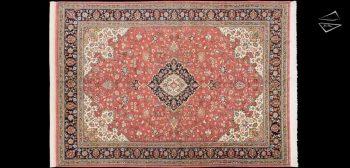 7x10 Fine Persian Qum Rug