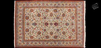 9x13 Fine Persian Qum Rug