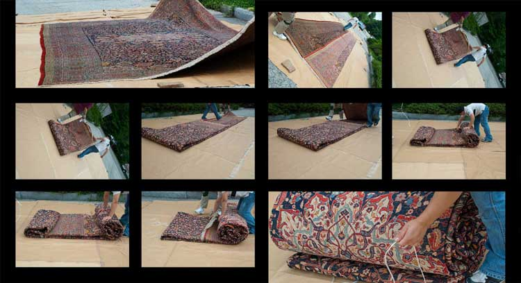 Folding Large Rugs