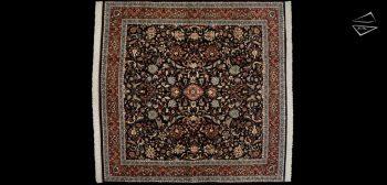 12x12 Kashan Design Square Rug