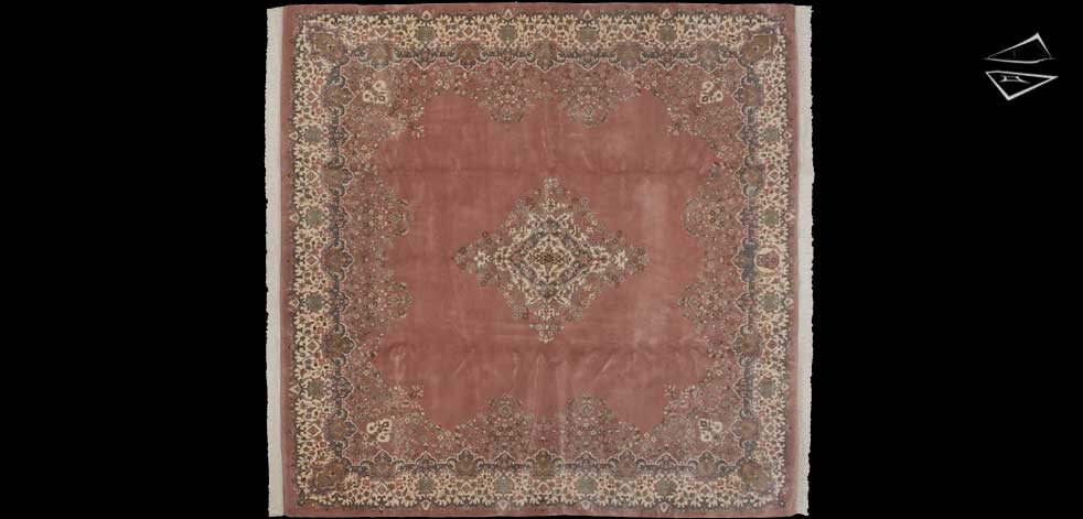 10x10 Kerman Design Square Rug
