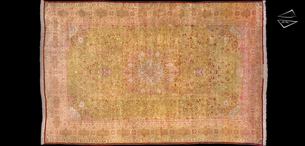 Antique Silk Tabriz Rugs