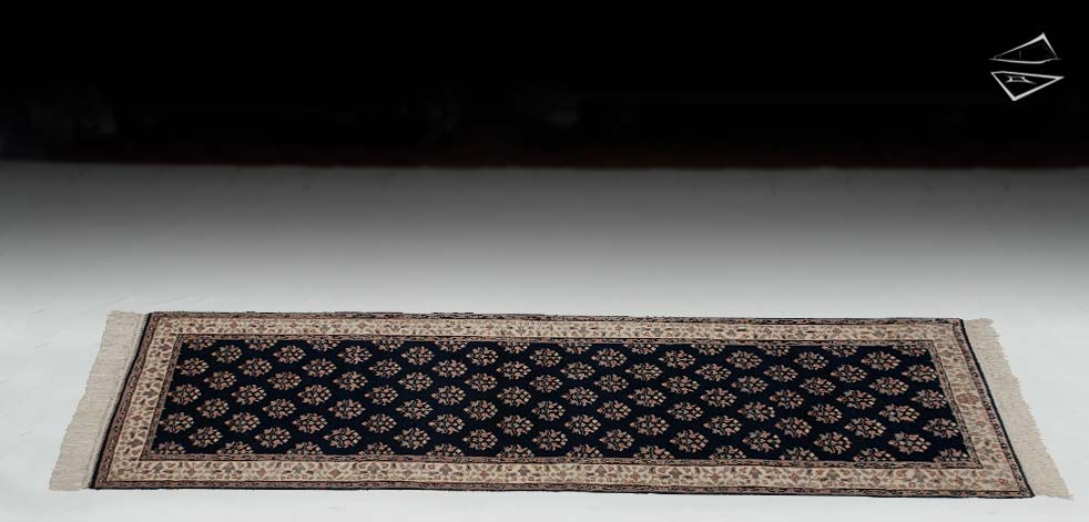 "2'6""x9 Mir Bouquet Sarouk Design Rug Runner"