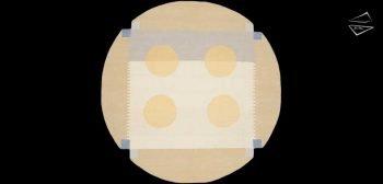 6x6 Modern Dhurrie Round Rug