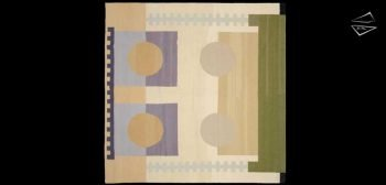 8x8 Modern Dhurrie Square Rug