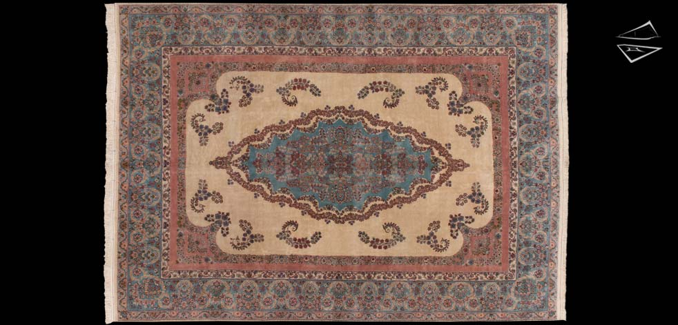 10x14 Persian Cyrus Crown Kerman Rug