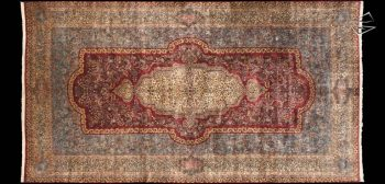 12x23 Persian Cyrus Crown Kerman Rug