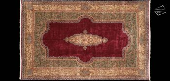 13x20 Persian Cyrus Crown Kerman Rug