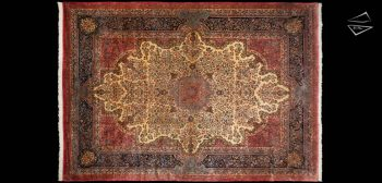 14x19 Persian Cyrus Crown Kerman Rug