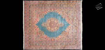13 x 15 Persian Cyrus Crown Kerman Square Rug
