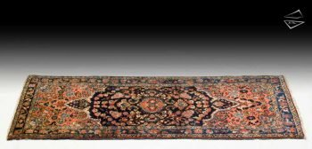 3x7 Persian Dargezine Rug Runner