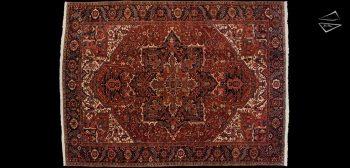 9x13 Persian Heriz Rug