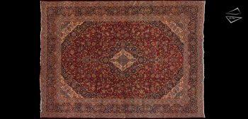 10x14 Persian Kashan Rug