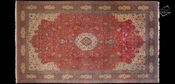 12 x 21 Persian Kashan Rug