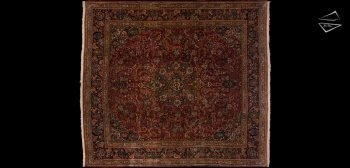 10x11 Persian Kazvin Square Rug