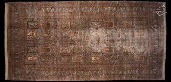 12x24 Persian Kerman Garden Panel Rug
