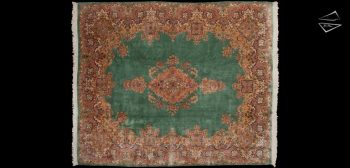 10x12 Persian Kerman Square Rug