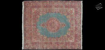 11x13 Persian Kerman Square Rug