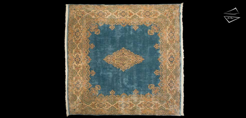 12x12 Persian Square Kerman Rug