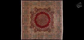 12x12 Persian Kerman Square Rug