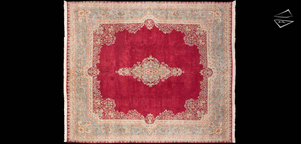 12x14 Persian Kerman Square Rug