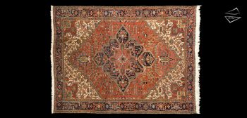 10x13 Persian Mehrivan Rug
