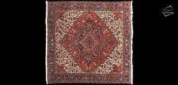 10x10 Persian Mehrivan Square Rug