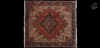 10x11 Persian Mehrivan Square Rug