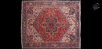 10x12 Persian Mehrivan Square Rug