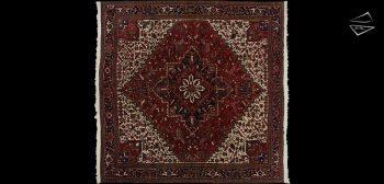 12x13 Persian Mehrivan Square Rug
