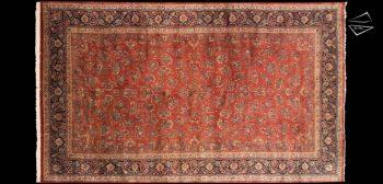 13 x 22 Persian Sarouk Rug
