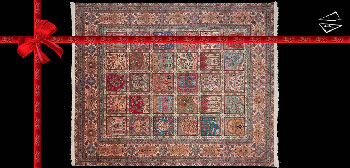 13 x 16 Persian Tabriz Panel Rug