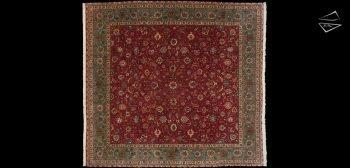 11x12 Persian Tabriz Square Rug