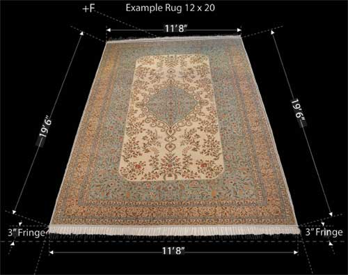 Rugs and carpets sizes