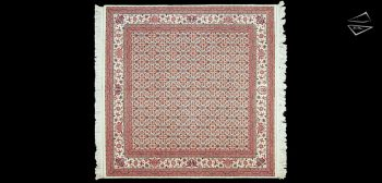 10x10 Tabriz Design Square Rug