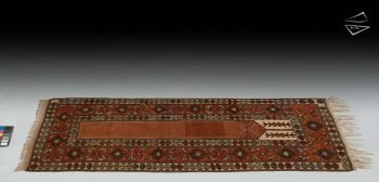 3x6 Turkish Melas Prayer Rug Runner