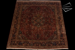 Persian Kazvin Square Rug