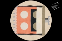 Modern Dhurrie Round Rug