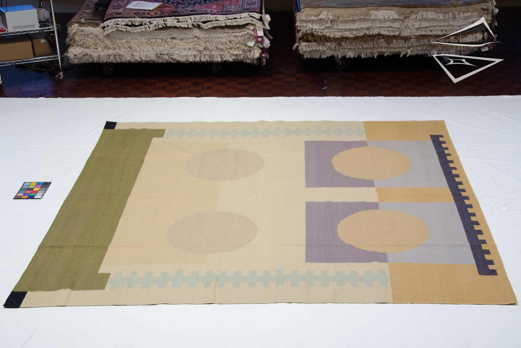 10x10 Modern Design Kilim Style Square Rug Large Rugs