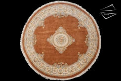 Aubusson Design Round Rug