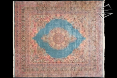 Persian Cyrus Crown Kerman Square Rug