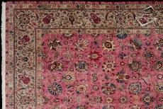 Persian Tabriz Square Rug
