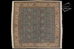 Square Persian Tabriz Rug