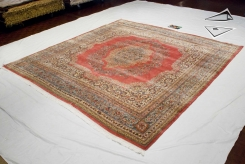 Persian Kerman Square Rug